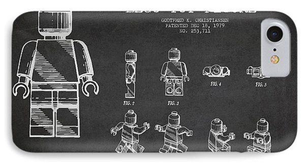 Lego Toy Figure Patent Drawing Phone Case by Aged Pixel