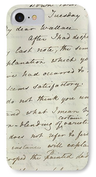 Letter Of Charles Darwin IPhone Case