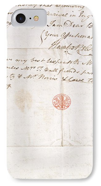 Letter Of Lord Nelson IPhone Case