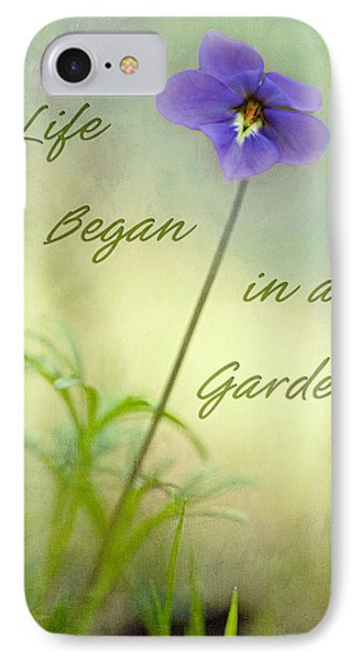 Life Began In A Garden Phone Case by Patricia Montgomery