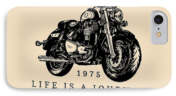 T Shirts iPhone 7 Case - Life Is A Journey Enjoy The Ride by Vlada Young
