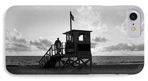 Lifeguard Hut On The Beach, 22nd St IPhone Case by Panoramic Images