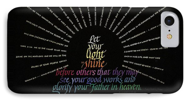 Light Shine Phone Case by Judy Dodds