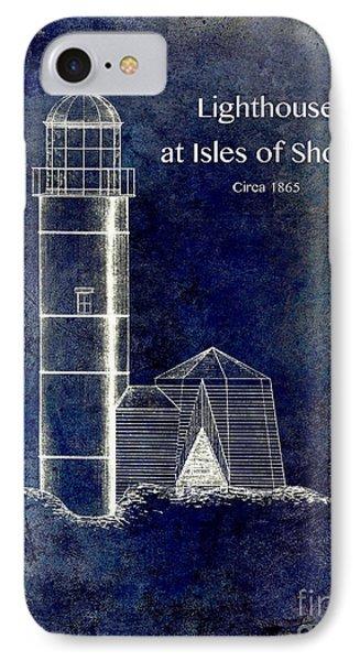 Lighthouse At Isles Of Shoals IPhone Case by Jon Neidert