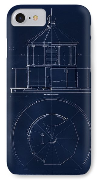 Lighthouse Lantern Drawing Phone Case by Jerry McElroy