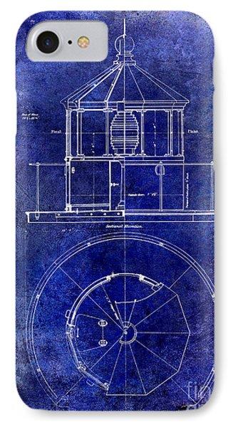 Lighthouse Lantern Lense Order Blueprint  IPhone Case by Jon Neidert
