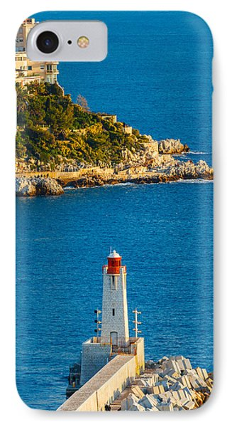 Lighthouse On The Riviera IPhone Case