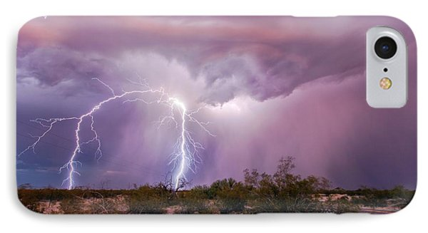 Lightning Strikes IPhone Case by Roger Hill