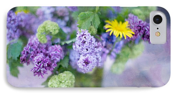 Lilacs In Vase 3 Phone Case by Rebecca Cozart