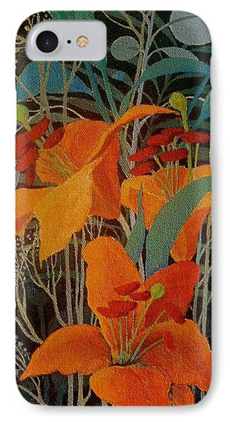 IPhone Case featuring the painting Lilies by Marina Gnetetsky