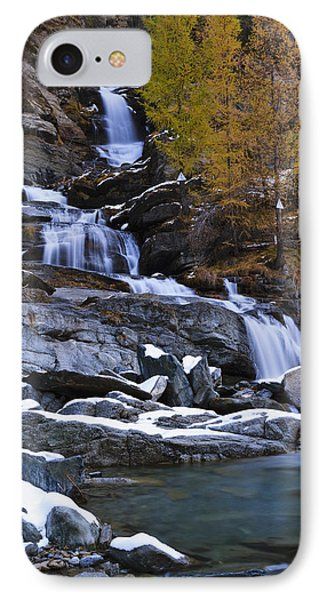 Lillaz Waterfall_ Cogne, Italy IPhone Case