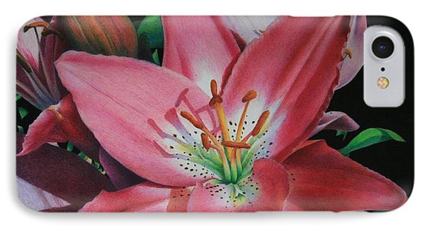 Lily's Garden Phone Case by Pamela Clements