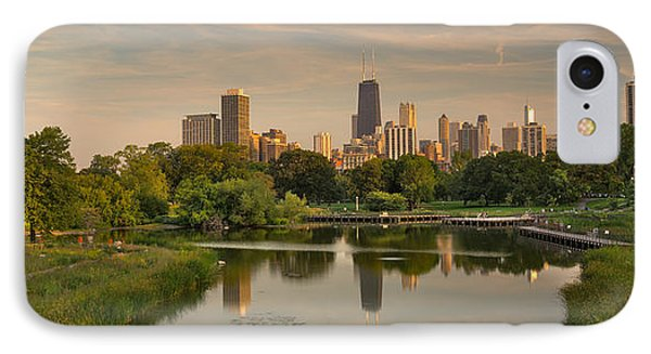 Lincoln Park Lagoon Chicago IPhone Case by Steve Gadomski