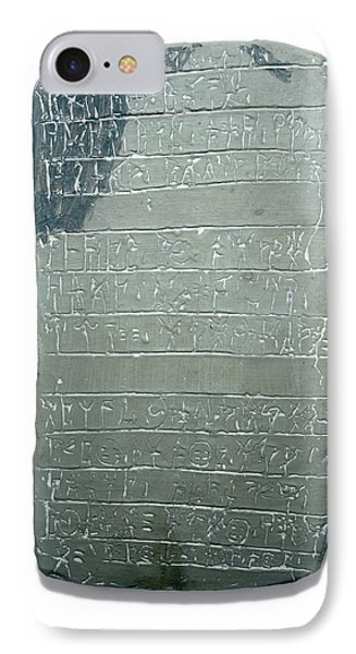 Linear B Tablet IPhone Case by David Parker
