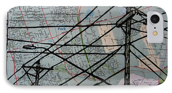 Lines On Map IPhone Case by William Cauthern