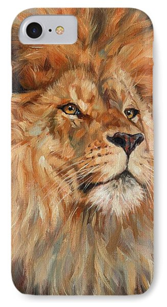 Lion IPhone 7 Case by David Stribbling