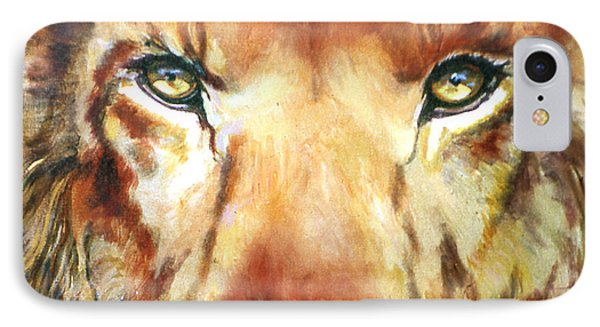 Lion Eyes Phone Case by Judy Downs