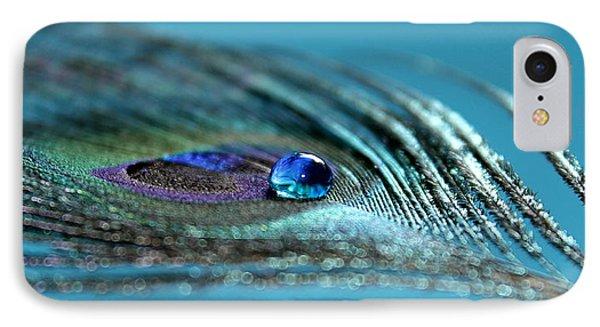 Peacock iPhone 7 Case - Liquid Blue by Krissy Katsimbras