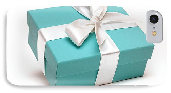 Little Blue Gift Box Phone Case by Amy Cicconi