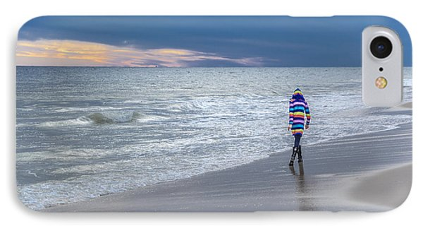 Little Girl At The Beache IPhone Case
