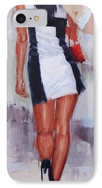 Little Red Bag Two IPhone Case by Laura Lee Zanghetti