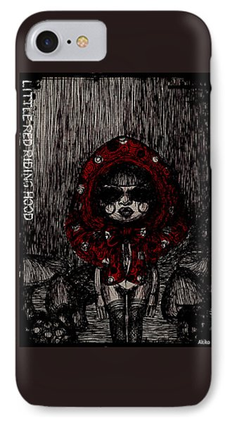 Little Red Riding Hood IPhone Case by Akiko Okabe