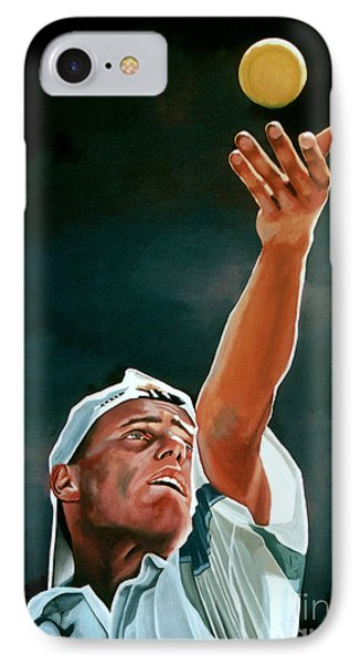 Lleyton Hewitt IPhone 7 Case by Paul Meijering