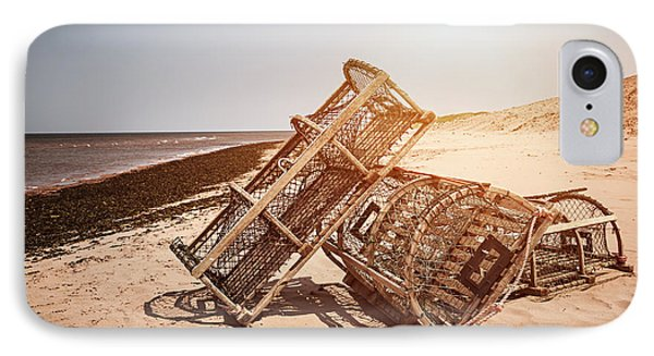 Lobster Traps On Beach IPhone Case by Elena Elisseeva