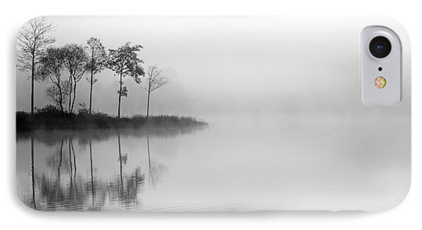 Loch Ard Trees In The Mist Phone Case by Grant Glendinning