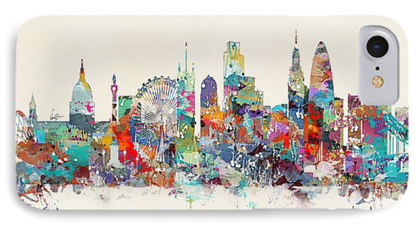 London City Skyline IPhone Case by Bri B