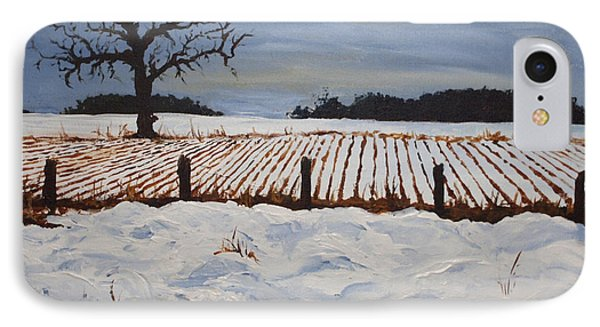 Lone Tree In Winter Phone Case by Monica Veraguth