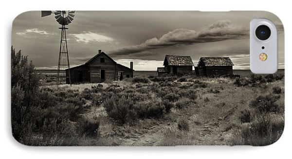 Lonely House On The Prairie IPhone Case by Mike  Dawson