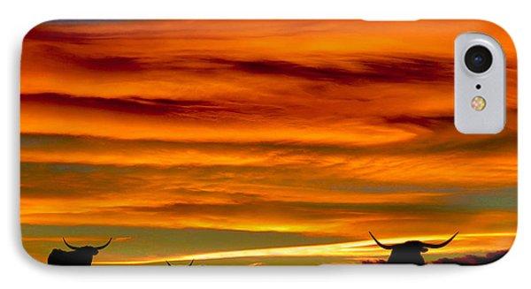 Longhorn Sunset IPhone Case