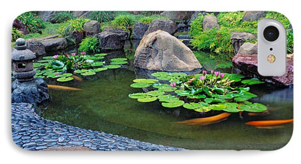 Lotus Blossoms, Japanese Garden IPhone Case by Panoramic Images