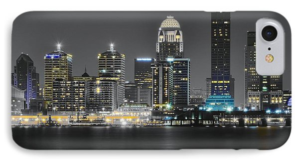 Night Lights Of Louisville IPhone Case by Frozen in Time Fine Art Photography
