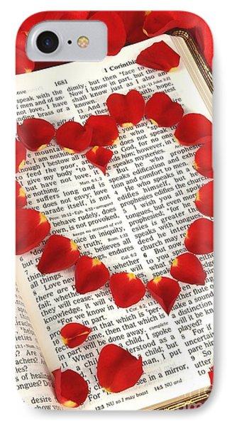 Love Scripture IPhone Case by Pattie Calfy