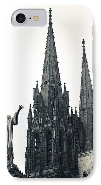 Low Angle View Of A Cathedral IPhone Case by Panoramic Images
