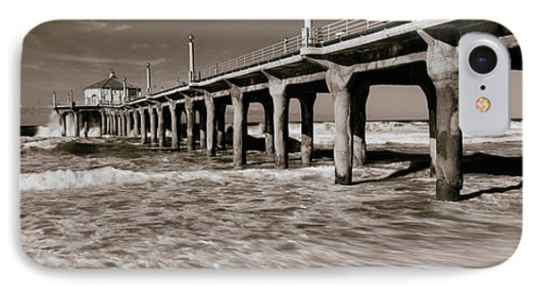 Low Angle View Of A Pier, Manhattan IPhone Case by Panoramic Images