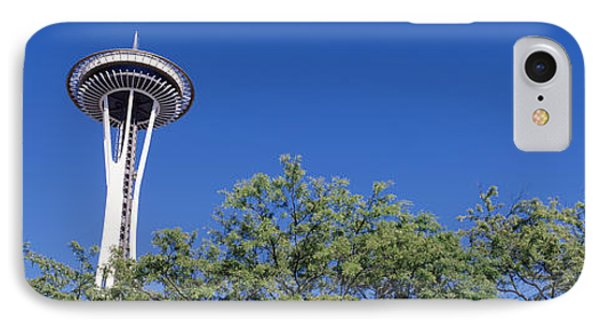 Low Angle View Of A Tower, Space IPhone Case by Panoramic Images