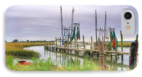 Lowcountry Shrimp Dock IPhone Case by Scott Hansen