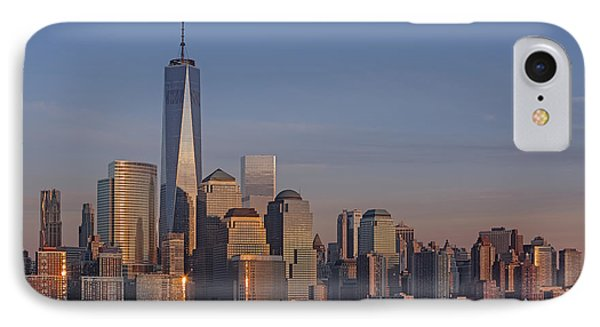 Lower Manhattan Skyline IPhone Case by Susan Candelario