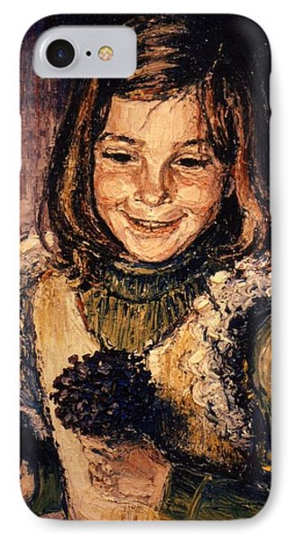 IPhone Case featuring the painting Luisa Fernanda by Walter Casaravilla