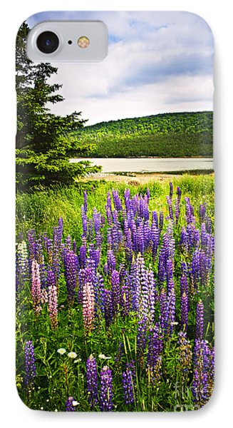 Lupin Flowers In Newfoundland Phone Case by Elena Elisseeva