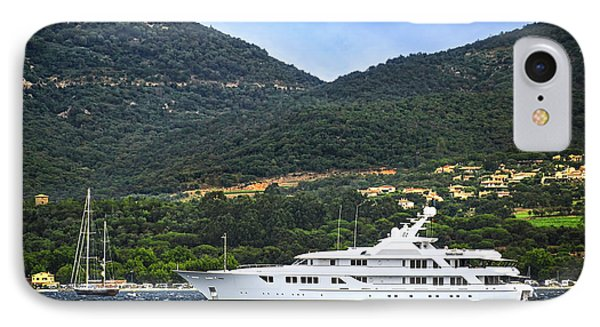 Luxury Yacht At The Coast Of French Riviera Phone Case by Elena Elisseeva