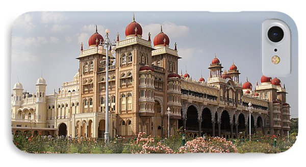 Maharaja's Palace And Garden India Mysore IPhone Case by Carol Ailles