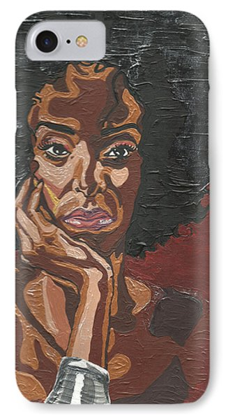 IPhone Case featuring the painting Mahogany by Rachel Natalie Rawlins
