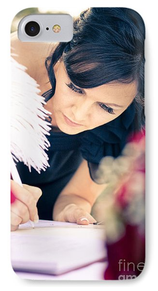 Maid Of Honour Signing Wedding Registar IPhone Case by Jorgo Photography - Wall Art Gallery