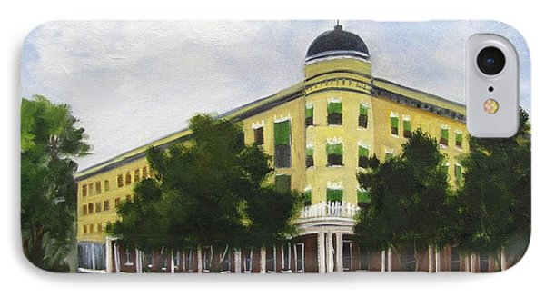 IPhone Case featuring the painting Majestic Hotel  by Barbara Haviland