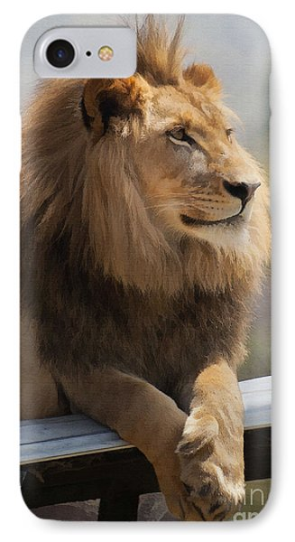 Majestic Lion IPhone 7 Case by Sharon Foster