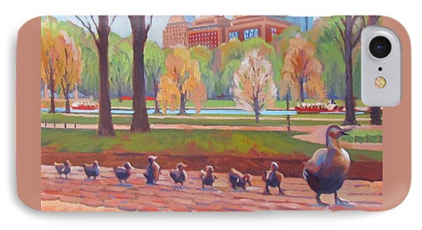 Boston iPhone 7 Case - Make Way For Ducklings by Dianne Panarelli Miller